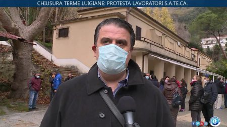 Chiusura delle Terme Luigiane – Protesta dei lavoratori Sateca- Immagini/interviste
