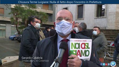 Chiusura Terme Luigiane. Incontro in Prefettura – immagini-interviste