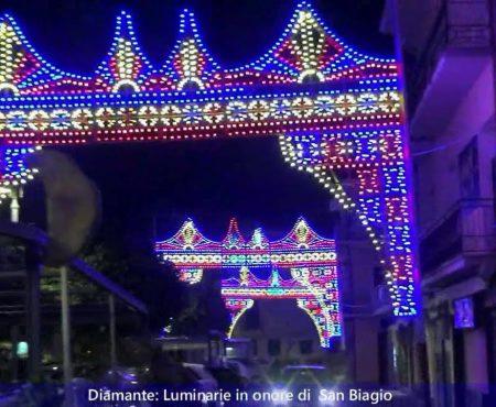 Diamante: Luminarie per la Festa di San Biagio