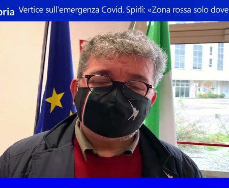 """Emergenza Covid in Calabria. Spirlì: """"Zona Rossa solo dove necessaria"""""""