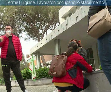 Terme Luigiane. I lavoratori occupano lo stabilimento – immagini-interviste