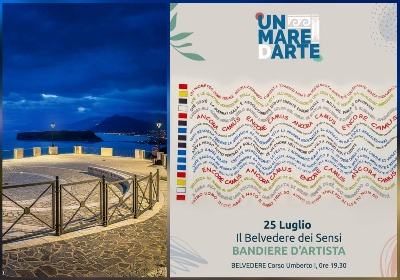 Camus e Bandiere d'artista, performance sul Belvedere di San Nicola Arcella