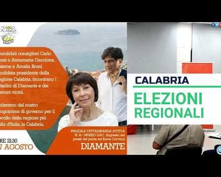 Elezioni Regionali: Diamante. Carlo Tansi incontra i cittadini