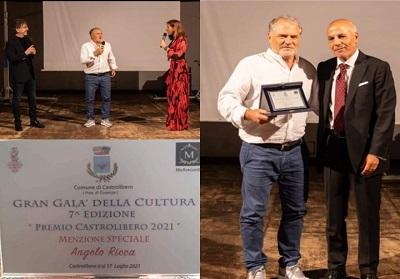 """Diamante. Angelo Ricca, il bomber senza età, Premio Menzione Speciale al """"Gran Galà della Cultura Calabria 2021"""" di Catrolibero"""